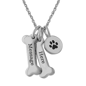 Dog bone necklace 732541000327790 kay hover to zoom aloadofball Images