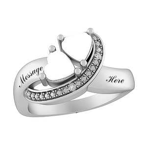 0951ec3576 Heart-shaped stones sparkle to symbolize your love for each other. Diamond  accents complete the look. Personalize with two engraved names.