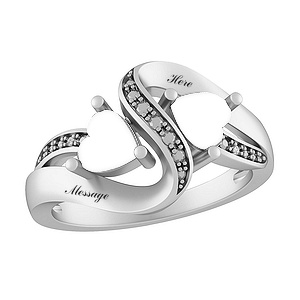 7b92983d74d95 Color Stone Couple's Heart Ring - 732541000182578 - Jared